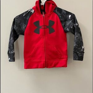 UNDER ARMOUR HOODIE JACKET, SIZE 4.